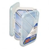 Коробка Aquatech 2х-сторонняя 10 ячеек (150 X 100 X 43 мм).